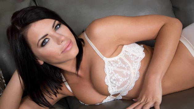 Adriana's Lacy White Lingerie